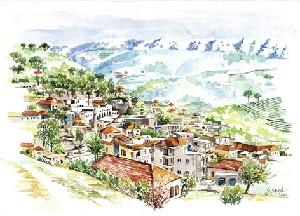 Deir el Kamar, General View