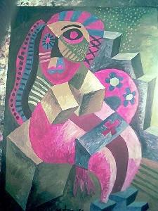Mirek Sledz - Woman with huge bust