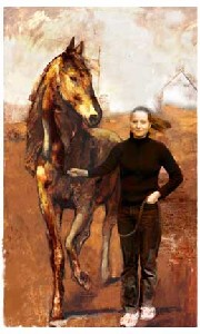 Tipping,Carol-Girl Leading a Horse