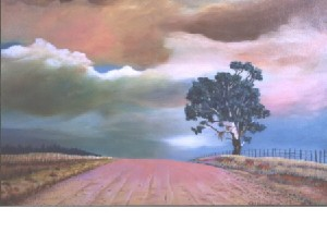 Kortenbout,Gerard-Sand road with Bluegum