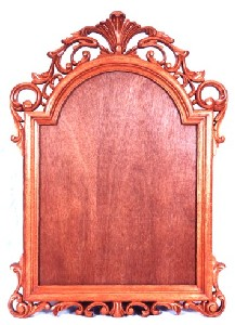 MianStarr,Carol-Imran-SHEER ELEGANCE - Hand Carved Wooden Frame for Mirror, Picture, Painting etc.in Solid Mahogany Wood