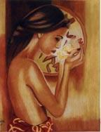 femme au lotus