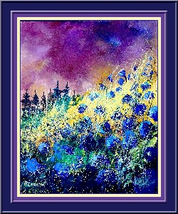 ledent,pol-Blue corn flowers