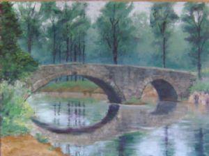 Misty Morning at Sugar Creek Bridge
