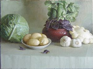 Salad and cabbage