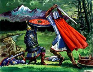 Knights. Fighting.