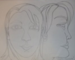 contour drawing (front and side)