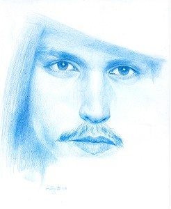 ''Johnny Depp ''  of Lorenzo Antognetti