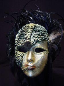 Chimera Mask -Designer mask made by Claudia Hapeman of www.socaldesignco.com.