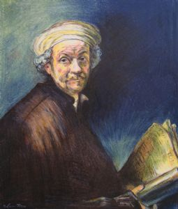 Rembrandt Portrait in Color Pencil