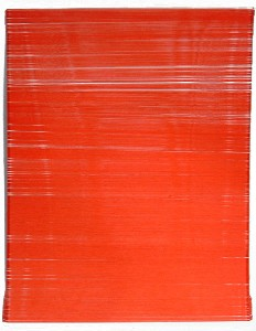 760 meters of red thread on canvas