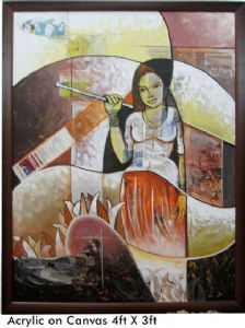 Bhattacharya,Abhijit-THE GIRL (Acrylic on canvas)