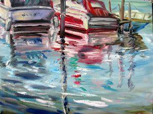 Boat Reflections at Chautauqua