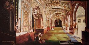 Inside View of Mahabat Khan Mosque in Peshawar