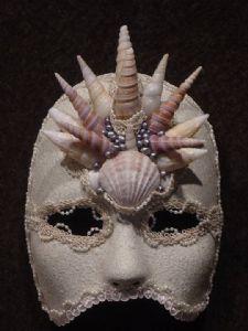 Atlantis designer mask -Designer mask made by Claudia Hapeman of www.socaldesignco.com.