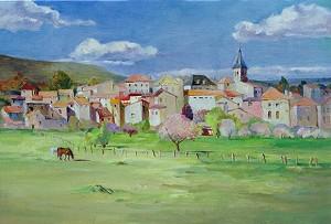 Sunshine and village