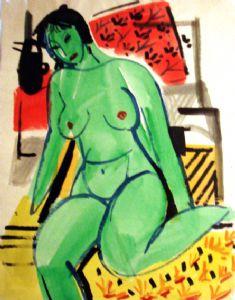Aminov,Faizulla-Green Nude.