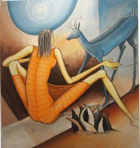 BLUE LOVE ( Acrylic on canvas )