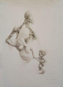 stillnes- Mother and son
