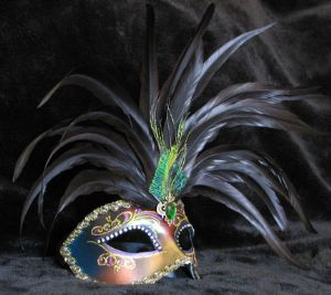 Magical venetian featehr mask for masquerades - goes with most outfits! www.socaldesignco.com