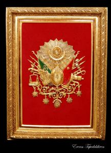 TEPEDELDIREN,ERCAN-THE OTTOMAN EMPIRE STATE ARMA(GOLD FOIL WORK)