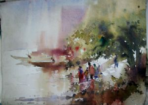 Bhattacharya,Abhijit-Landscape 3 ( Water Colour In Paper )