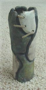 Raku Vase, 1 of 2, 2000