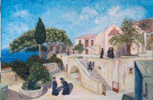 Seven Monks at Preveli Monastery, Crete