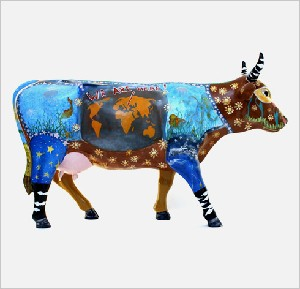 F. CowParade- Bucharest. 2005- kids cow- Fundatia Grigore Mora