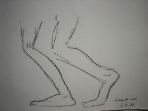 Feet of a rikscha puller