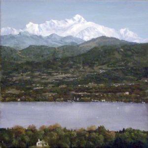 Lac Leman et Mt. Blanc
