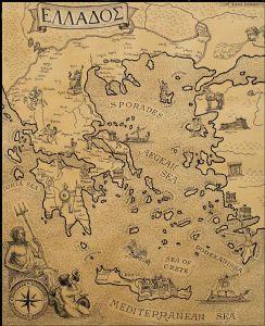 Map of Elados (Greek)