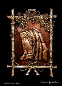 VIRGIN MARY(COPPER RELIEF)