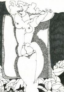 Nude Study In Pen