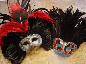 His and Hers designer venetian masquerade party masks by www.socaldesignco.com