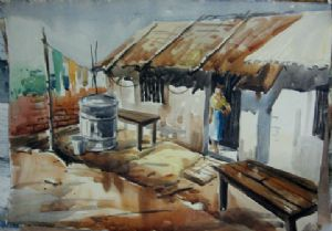 Bhattacharya,Abhijit-Landscape 5 ( Water Colour In Paper )