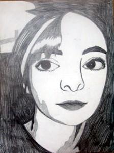 self portrait done in graphic art