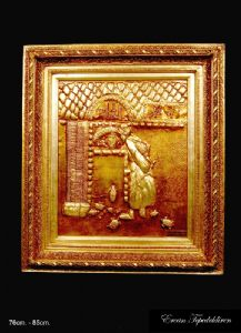 CHARMING TURTLE(GOLD FOIL WORK RELIEF)