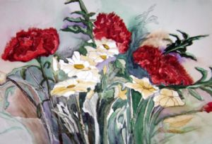 carnations and daisies