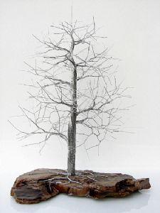 aluminum wire tree sculpture-1276