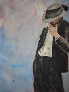 Man Smoking-After Fabian Perez