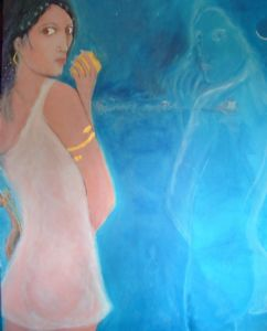 Sappho with Aphrodite's Golden Aplle Beside Herself