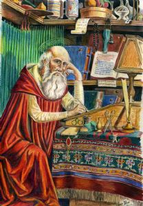St. Jerome in his Library