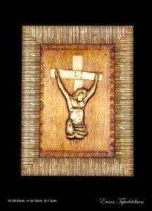 JESUS(GOLD FOIL WORK RELIEF)