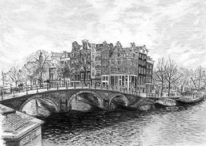 Brouwersgracht and Prinsengracht Corner, Amsterdam