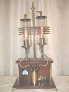 Dual Desktop Illuminator with Gas to Electricy Converter