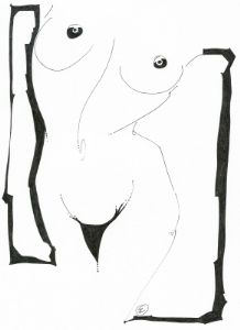 Costello,Judith-Nude Study In Pen-Print