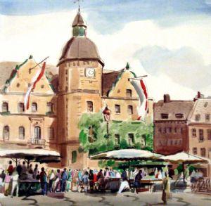 Germany. Dusseldorf. Market square