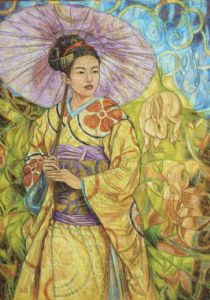 Japonaise � l'ombrelle