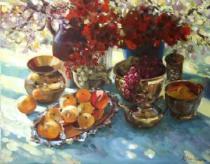 Robinson,Angelika-Still Life with Peaches